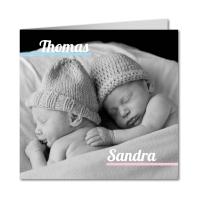 Zwillingsratgeber zwillingskarten-geburt Tauf- und Geburtsanzeigen - Karten zur Zwillingsgeburt