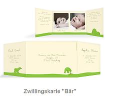 Zwillingsratgeber zwillingskarten Tauf- und Geburtsanzeigen - Karten zur Zwillingsgeburt