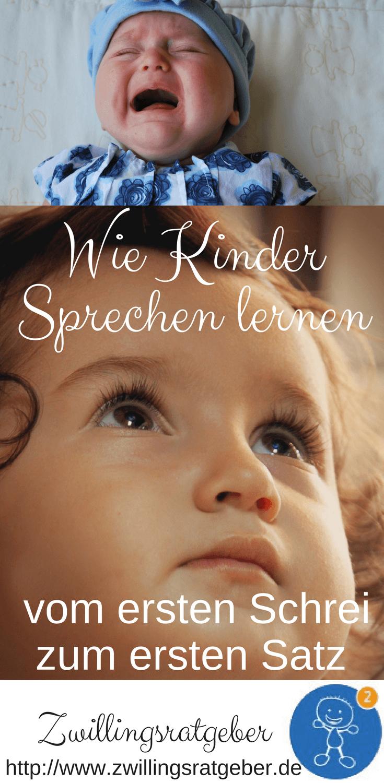 Zwillingsratgeber 5 Wie Kinder Sprechen lernen - vom ersten Schrei zum ersten Satz