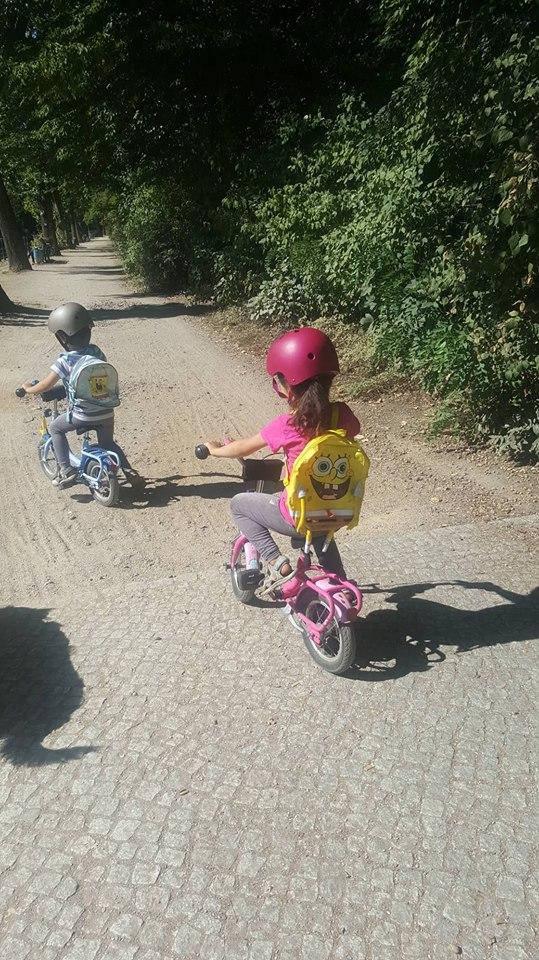 Zwillingsratgeber zwillinge-fahren-fahrrad Interview mit der alleinerziehenden Zwillingsoma Britta