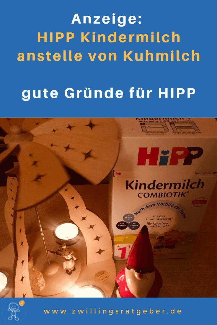 Zwillingsratgeber hipp-kindermilch Anzeige: HIPP Combiotik Kindermilch anstelle von Kuhmilch – Gute Gründe für HIPP